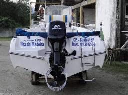 Lancha Brasboats Fly Fish 190 - ano 2012 - motor Mercury 90 HP - 2012