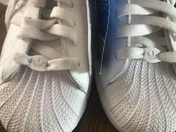 Adidas superstar - tênis branco 38 novo
