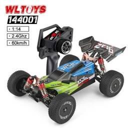 Carro 4x4 controle remoto WLtoys 1/14 144001 - 60km/h chassi em metal - 100% novo lacrado