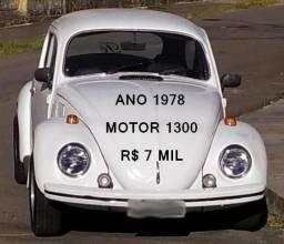 Fusca 78 motor 1300 só R$7mil