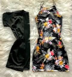 Conjunto Kimonos e vestido