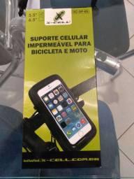 Suporte celular impermeável para moto e bicicleta