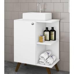 Balcão para Banheiro 1 Porta BCM 141 MovelBento CestaPlus