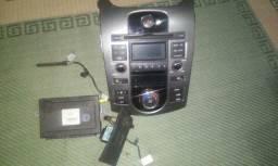 Rádio Kia Cerato original com controle ar