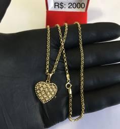 Colares femininos em ouro 18k, NOVOS !!!!!