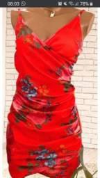 Vestido vermelho Saori da marca Da Luz