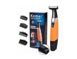 Título do anúncio: (NOVO) Máquina Barbeador E Depilador Pelos Do Corpo Aprova D´agua Kemei Original