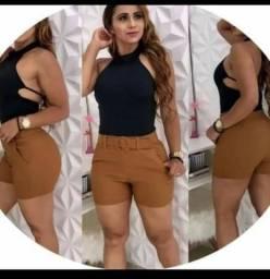 Atacado Shorts Bengaline Moda feminina