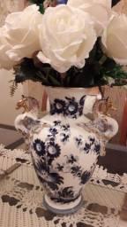 Vaso Antigo de Porcelana Esmaltado Pintado a Mão Década  50!!