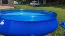 Kit Piscina 14.000 litros + lona+ filtro, escada e cloro