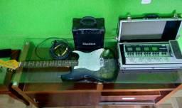 Guitarra+cubo+pedaleira com case