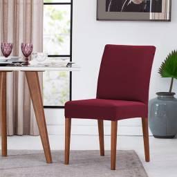 Capa Para Cadeira Malha Kit 2 Unidades Cor Vinho