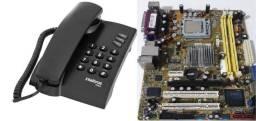 Título do anúncio: Peças computador (Modem-Teclados-Mouses-Switch-Telefone)