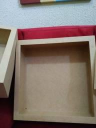 nichos. 3 quadrados e 3 quadrados e um para plantas de parede