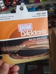 Título do anúncio: Promoção cordas Daddario era R$ 69,00 agora é 35,00 ( aceitamos cartão)