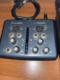 Título do anúncio: Placa de audio m-audio m-track