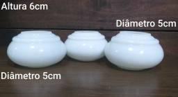 Peças Para Reposição Em Opalina Abajur Tulipa 3 Peças