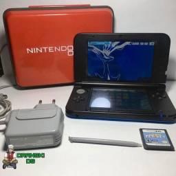 Nintendo 3DS XL + 18 Jogos + Jogo Pet Vet e Brinde