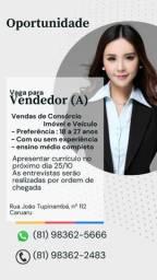 Título do anúncio: Oportunidade de Emprego