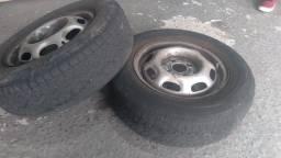 Título do anúncio: Rodas com pneu aro 13