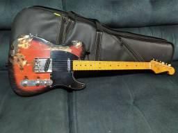 Só HOJE! Guitarra Telecaster SX Vintage Séries +  Semi Case