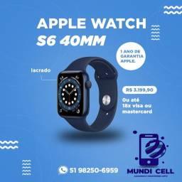MUNDICELL NOVO APPLE WATCH S6 40MM LACRADO ORIGINAL UM ANO DE GARANTIA APPLE