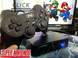 Título do anúncio: Tv Box Gamer 311 Jogos de Super Nintendo + 2 Controles analógicos