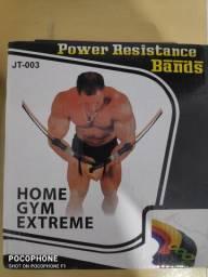 Kit elástico para exercícios 11 ítens, produto novo