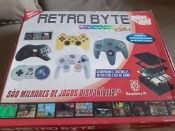 Video Game Retro Byte com 6 controles e 16000 jogos