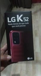 """Título do anúncio: Smartphone LG K52. 64GB. Tela de 6.6"""", 4 Câmera  Android 10. Inteligência Artificial."""