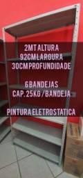 Título do anúncio: ESTANTES PREÇO DE FABRICA CAP. 25KG/ BANDEJA