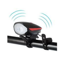 Lanterna Farol Sinalizador Recarregável com Buzina para Bike Bicicleta - Pronta Entrega