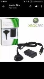 KIT CARREGADOR E BATERIA CONTROLE XBOX360