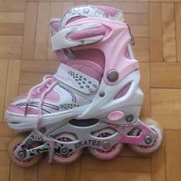 Roller Burnett rosa infantil