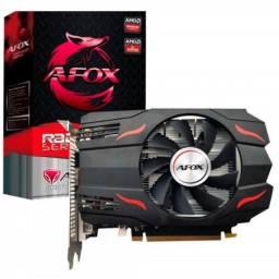 Título do anúncio: Placa de vídeo Rx 550 4gb afox 1 Fan..