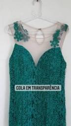 Título do anúncio: Vestido verde 44 longo de festa