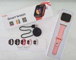 Relógio Inteligente Smartwatch IWO T55+ Rosa #Adiciona sua foto#