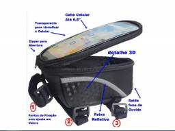 Título do anúncio: Bolsinha Porta Celular Acessórios Suporte para Bicicleta_ep51