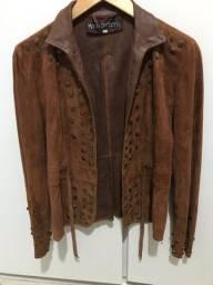 Título do anúncio: Jaqueta de couro legítimo em camurça italiana