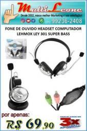 Fone De Ouvido Headset Lehmox Ley 301 Super Bass