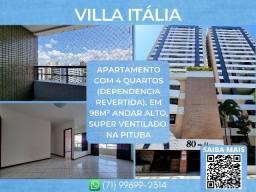 Título do anúncio: Villa Itália, 4 quartos em 98m² com 2 vagas de garagem na Pituba - Espetacular