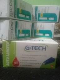 Kit para Controle da Glicemia.? 4 caixa mas caixa de lancetas