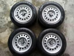 Rodas bolinha 14 + pneus pirelli