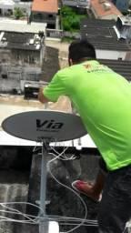 Receptor instalação de antena apontamento