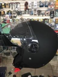 Capacete shiro helmets aberto preto fosco