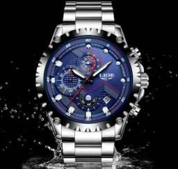 Relógio lige Masculino de luxo Aprova D'água barato em promoção