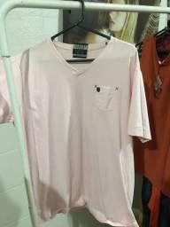 Camisa rosa claro linda veste bem