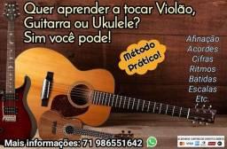 Aulas de violão, guitarra e ukulele