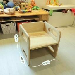 Cadeira cubo Montessoriana- MDF