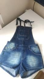 Jardineira jeans - Praticamente Nova!!